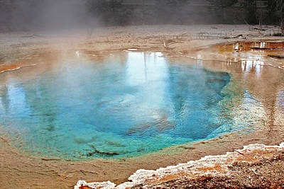 Smoke Photograph - Silex Spring Fountain Paint Pot Yellowstone National Park Wy by Christine Till