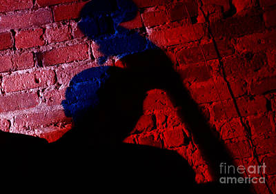 Silhouette Of A Jazz Musician 1964 Print by The Phillip Harrington Collection