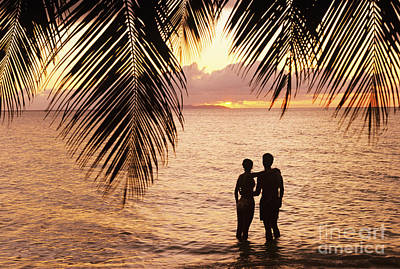 Silhouetted Couple Print by Larry Dale Gordon - Printscapes