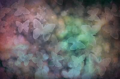 Fluttering Digital Art - Silhouettes Of Butterflies by Marianna Mills