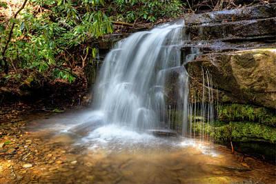 Silky Waterfall Print by Debra and Dave Vanderlaan