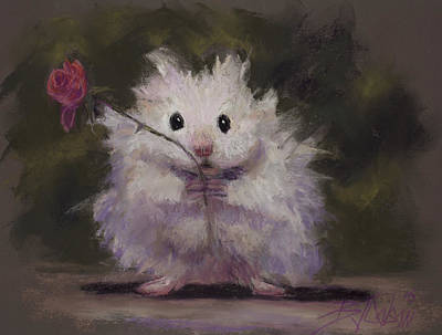 Gerbil Painting - Silly Me by Billie Colson