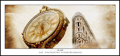 Silver And Gold Poster Print Print by Az Jackson