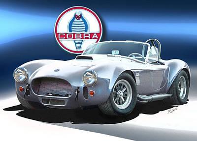 Cobra Mixed Media - Silver Cobra by Rod Seel