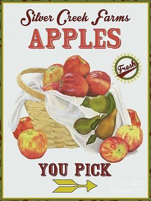 Silver Creek Farms Apples Print by Mandy Penney