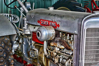 Silver King Tractor Print by Paul Ward