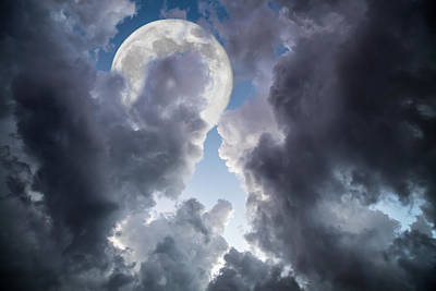 Seascape Photograph - Silver Moon by J Darrell Hutto