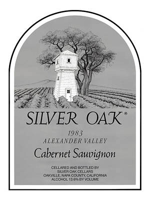 Silver Oak Wine  Print by David Davis