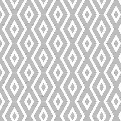 Geometric Digital Art - Silver Pattern by Christina Rollo