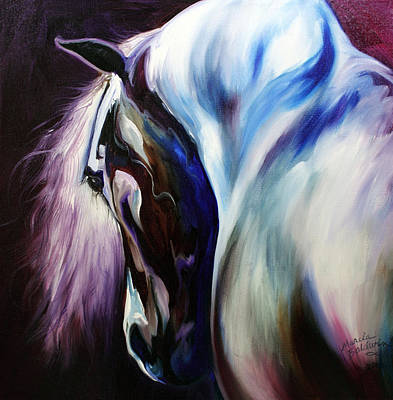 Mane Painting - Silver Shadows Equine by Marcia Baldwin