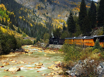 Railroad Photograph - Silverton Bound by Kurt Van Wagner