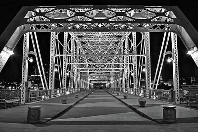 Downtown Nashville Photograph - Silvery Bridge by Frozen in Time Fine Art Photography