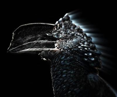 Hornbill Digital Art - Silvery - Cheeked Hornbill by Andy Klamar