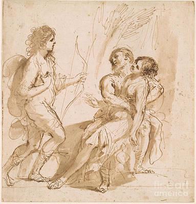 Giovanni Francesco Barbieri Painting - Silvio Discovering The Wounded Dorinda by Giovanni Francesco