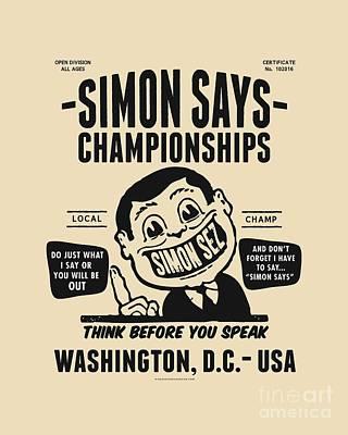 Digital Art - Simon Says Championships by Mark Kingsley Brown