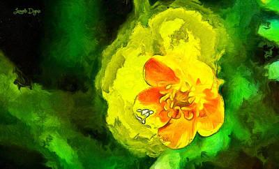 Tulip Painting - Simple And Beautiful - Da by Leonardo Digenio