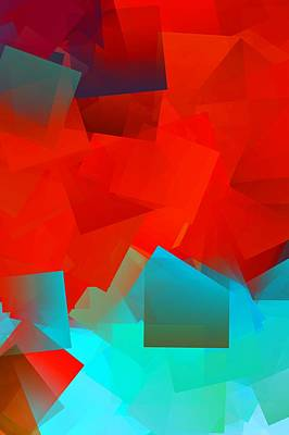 Abstract Digital Art - Simple Cubism Abstract 60 by Chris Butler