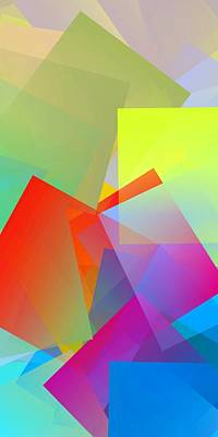 Abstract Digital Art - Simple Cubism Abstract 81 by Chris Butler