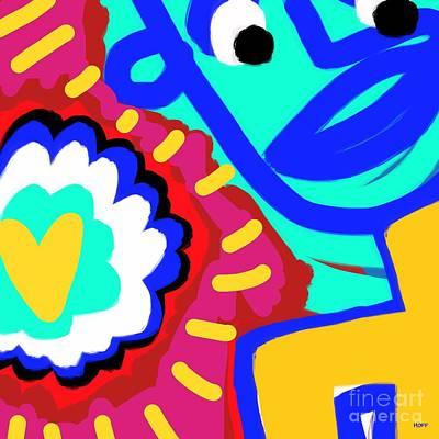 Sangha Digital Art - Simple Love by Will Hoffman