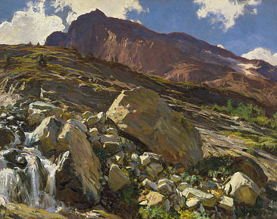 Crag Painting - Simplon Pass by John Singer Sargent