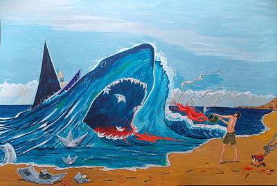 Painting - Simulating A Carnage by Lazaro Hurtado