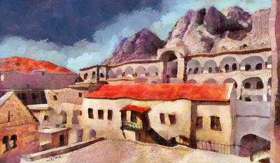 Fence Painting - Sinai Monastery 3 by George Rossidis