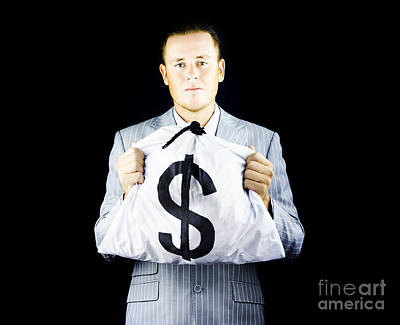 Sincere Banker Or Business Broker Print by Jorgo Photography - Wall Art Gallery