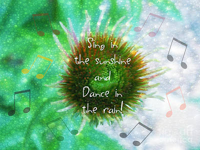 Sing And Dance Print by Anita Faye
