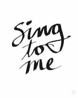 Sing To Me- Art By Linda Woods Print by Linda Woods