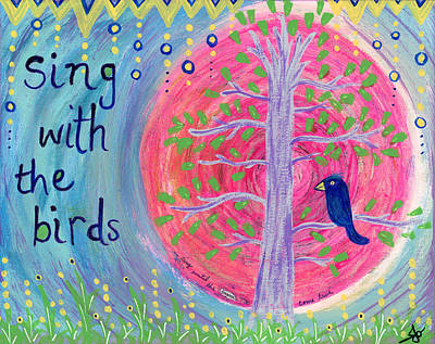 Magician Photograph - Sing With The Birds by Loving Rd By Julia Osterc
