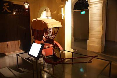 Singapore Hand Pulled Rickshaw Print by Padamvir Singh