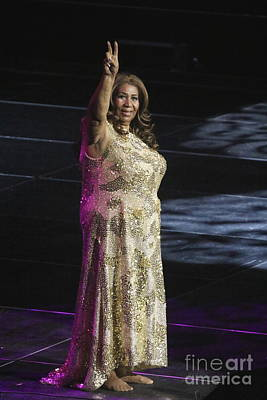 Singer Aretha Franklin Print by Concert Photos