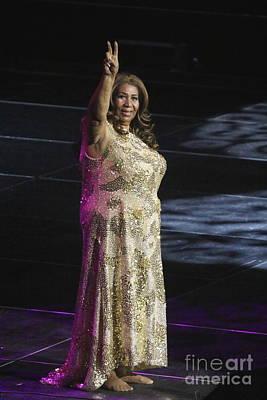 Queen Photograph - Singer Aretha Franklin by Concert Photos