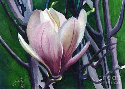 Single Magnolia 1 Print by Daniela Easter