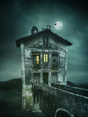 Sinister Old House Print by Carlos Caetano