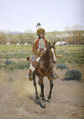 Drawing - Sioux Indian by Henry Francois Farny