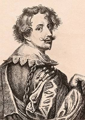 Flemish Drawing - Sir Anthony Van Dyck 1599-1641 Flemish by Vintage Design Pics