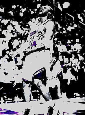 Sir Charles Barkley Print by Brian Reaves