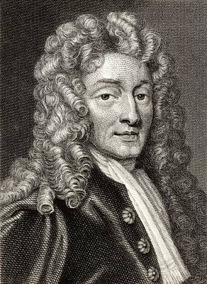 Wren Drawing - Sir Christopher Wren, 1632-1723 by Vintage Design Pics