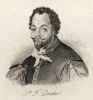 Drake Drawing - Sir Francis Drake C.1540 3-1596.vice by Vintage Design Pics