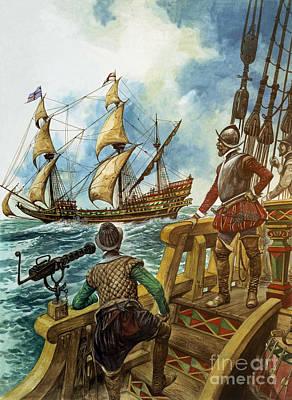 Drake Painting - Sir Francis Drake by Peter Jackson