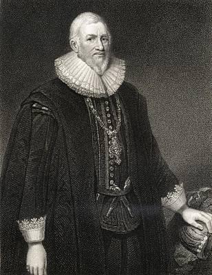 Sir Hugh Middleton Or Myddelton Print by Vintage Design Pics