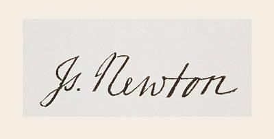 Newton Drawing - Sir Isaac Newton 1642 To 1727. English by Vintage Design Pics