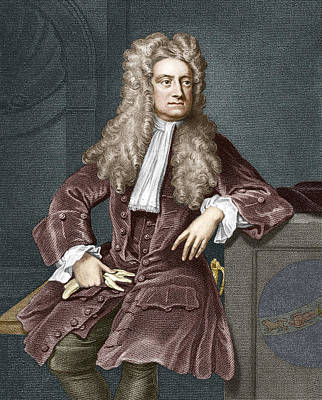 Sir Isaac Newton, British Physicist Print by Sheila Terry