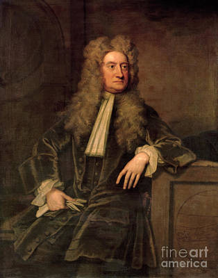 Great Painting - Sir Isaac Newton  by Sir Godfrey Kneller