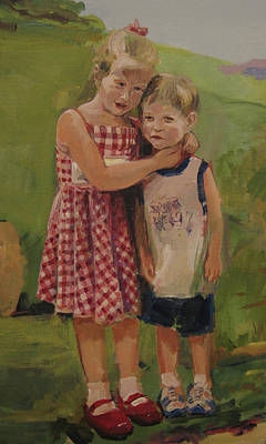 Family Painting - Sister And Brother by Tigran Ghulyan