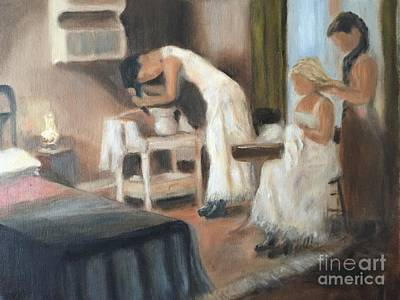 Hair-washing Painting - Sisters by Bonnie Blaylock