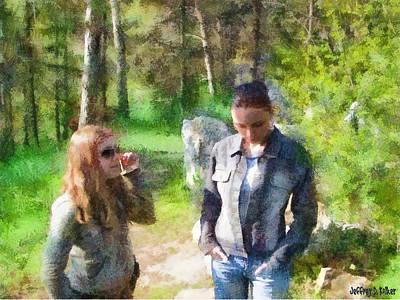 Jeff Digital Art - Sisters by Jeff Kolker