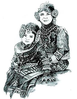Sisters Print by Ramneek Narang