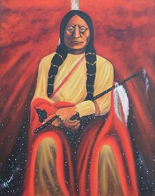 Sitting Bull - Siuox Shaman Original by Art Enrico